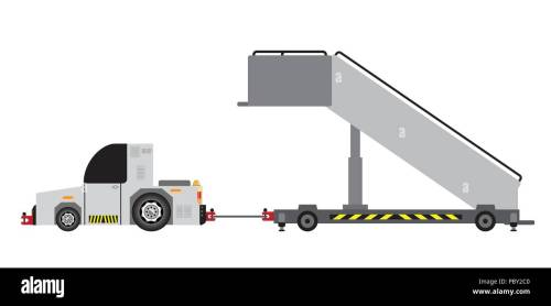 small resolution of no engine airport stair truck vector and illustration