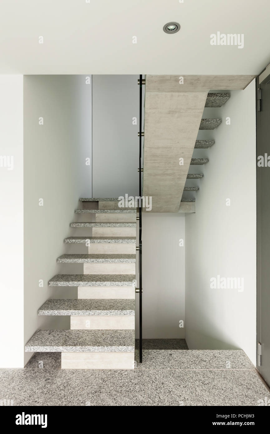 Modern Building Granite Staircase Interior Stock Photo Alamy | Granite Design For Stairs | Floor | Front Wall | Bedroom | Grenite Pathar | Sunny