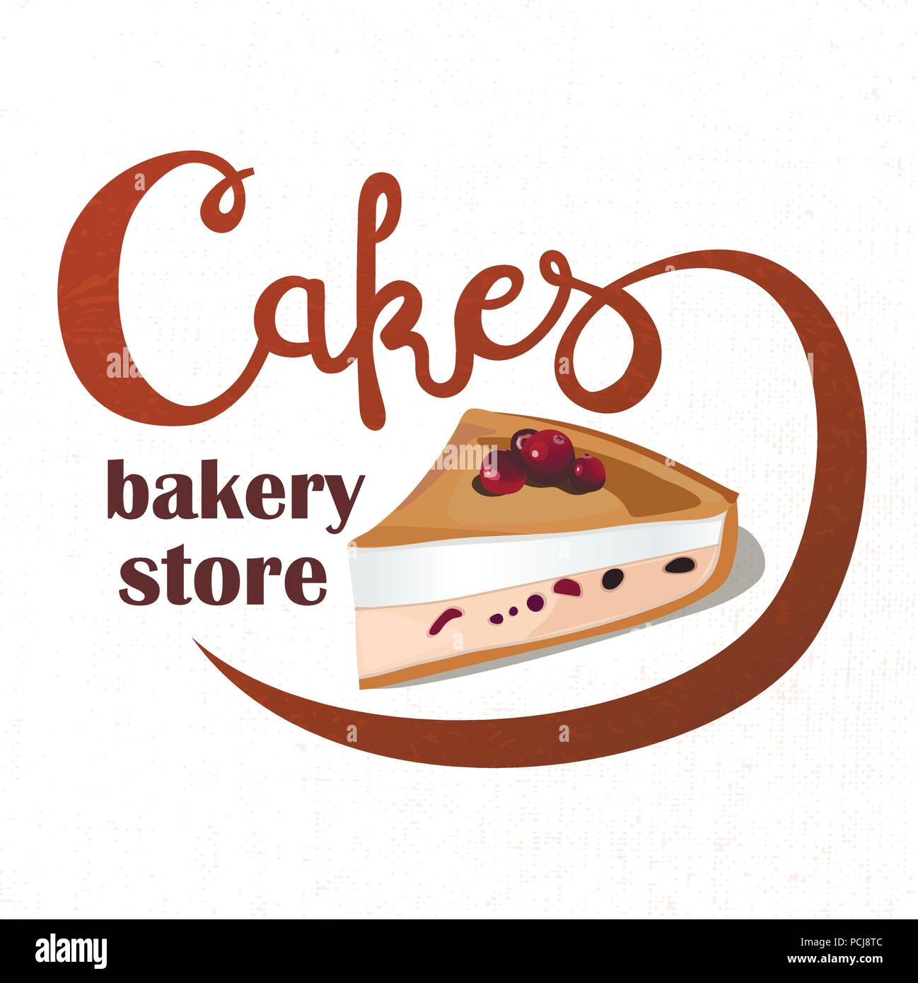 Logo Sign Style For The Confectionery Bakery Shop Lettering