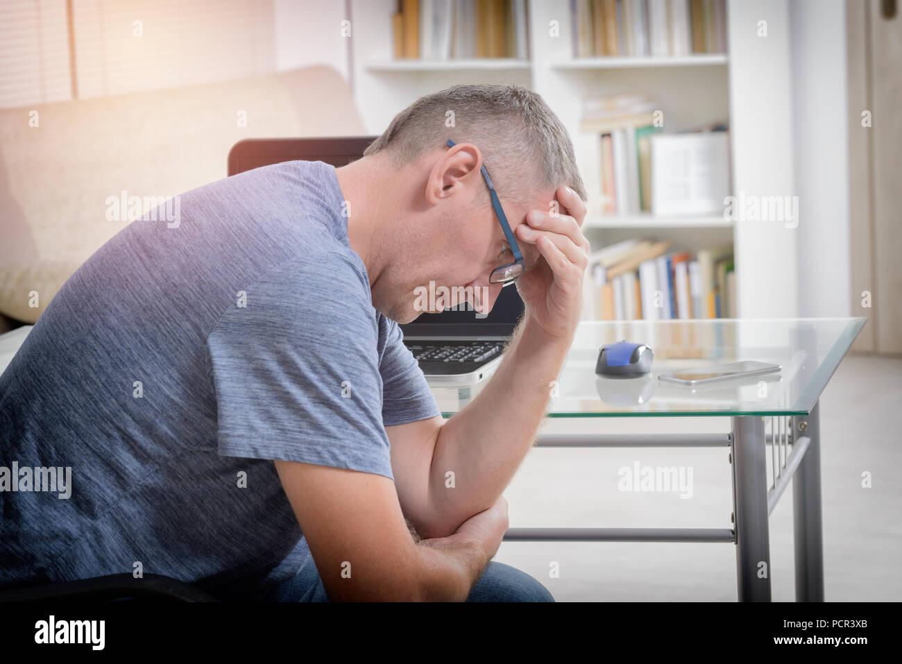 freelancer man at workplace
