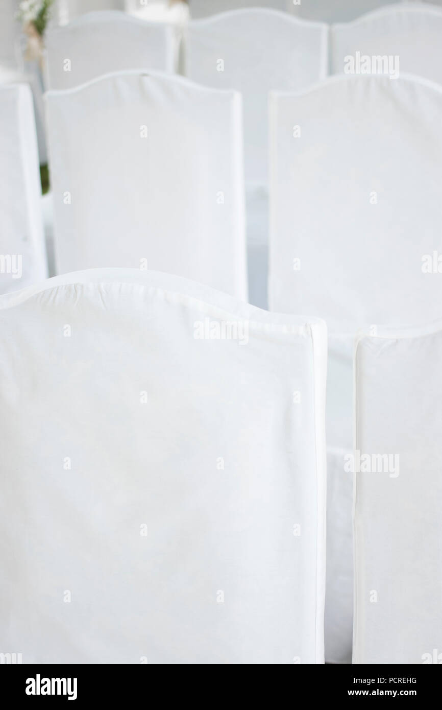 paper chair covers for weddings ivory ruched outdoor summer garden civil wedding seating with white cotton marriage service