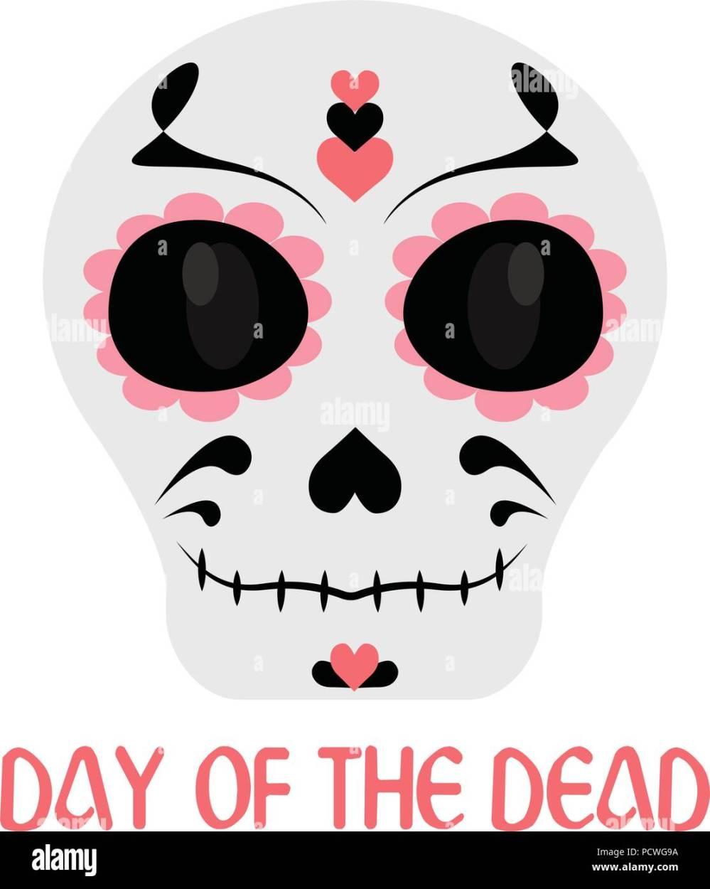 medium resolution of day of the dead stock vector