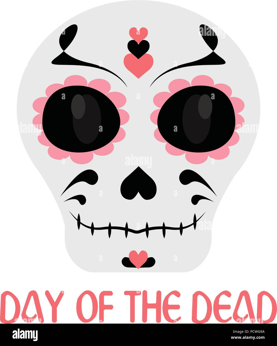 hight resolution of day of the dead stock vector