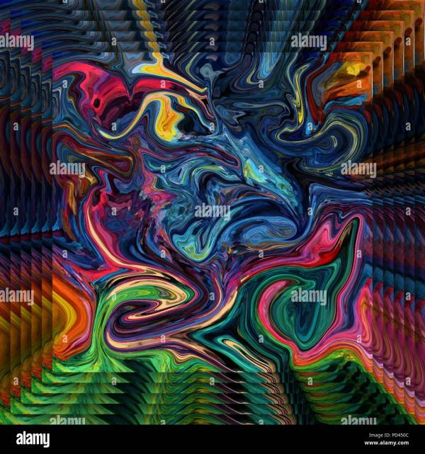 Psychedelic Fractal Stock &