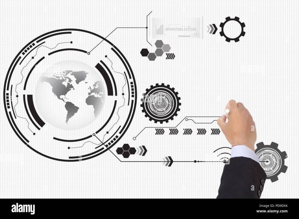 medium resolution of business writing futuristic circuit high computer technology background illustration