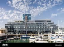 Hotel In Shape Of Boat Stock &
