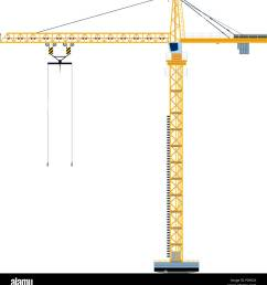template with construction tower crane jigsaw banner concept vector illustration [ 1237 x 1390 Pixel ]