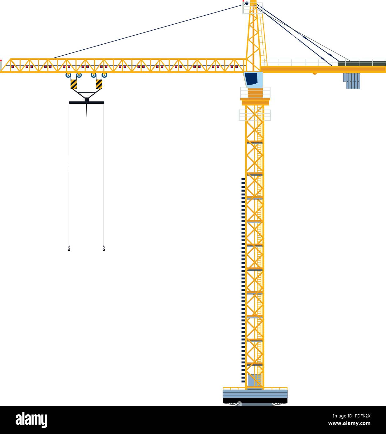 hight resolution of template with construction tower crane jigsaw banner concept vector illustration