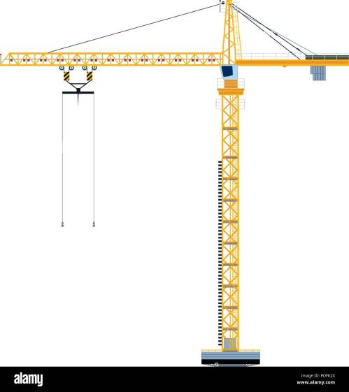 small resolution of template with construction tower crane jigsaw banner concept vector illustration