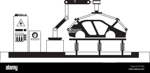 small resolution of body of car on the assembly line the conveyor at the factory