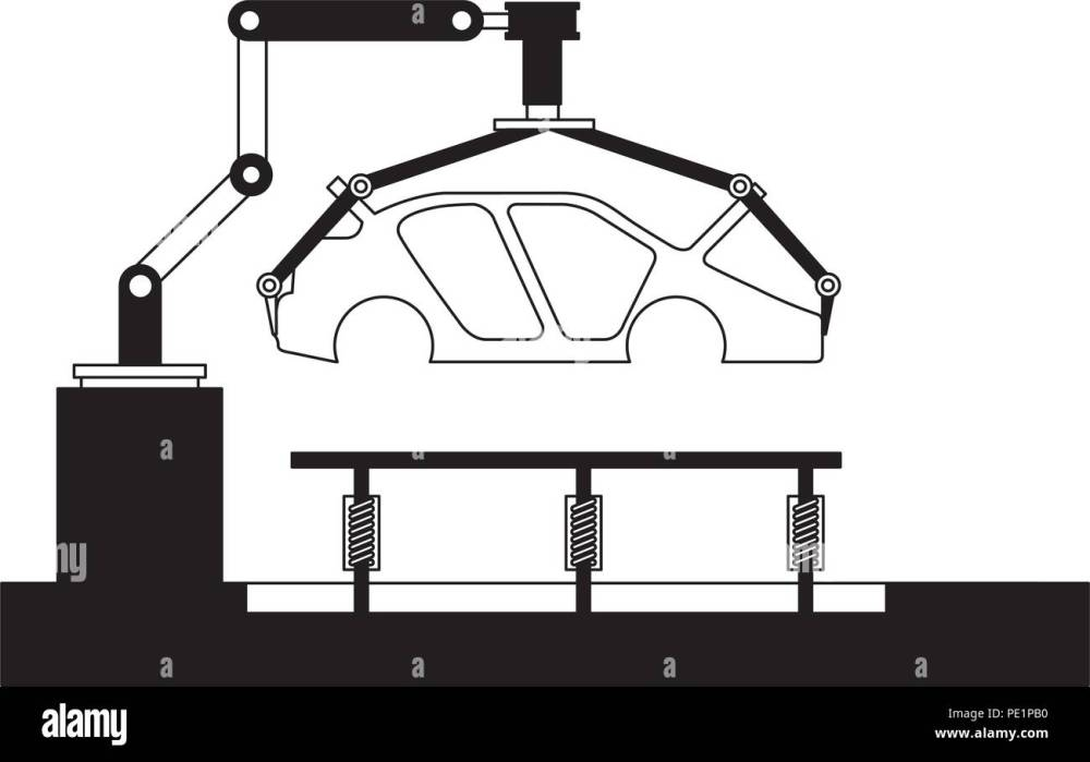 medium resolution of body of car on the assembly line the conveyor at the factory
