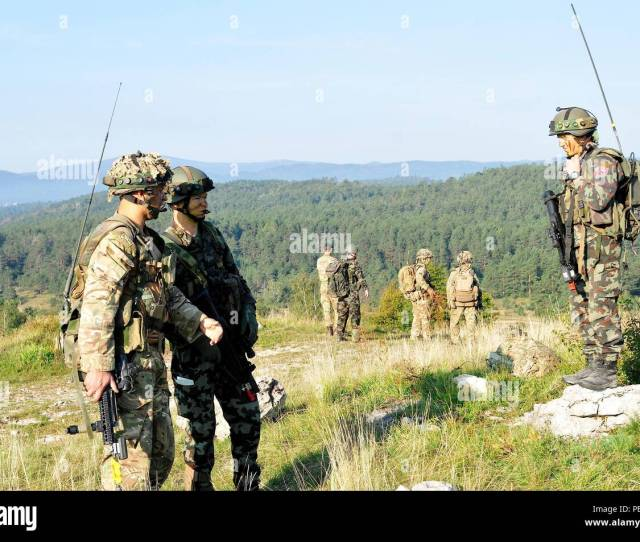 Slovenian And British Soldiers Conduct Training During At Immediate Response  2015 Near Postonja Slovenia Ir 15 Is A Multinational