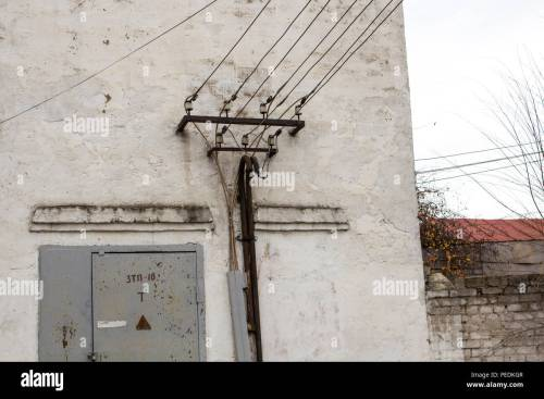 small resolution of the old building of transformer points transformer points stock image