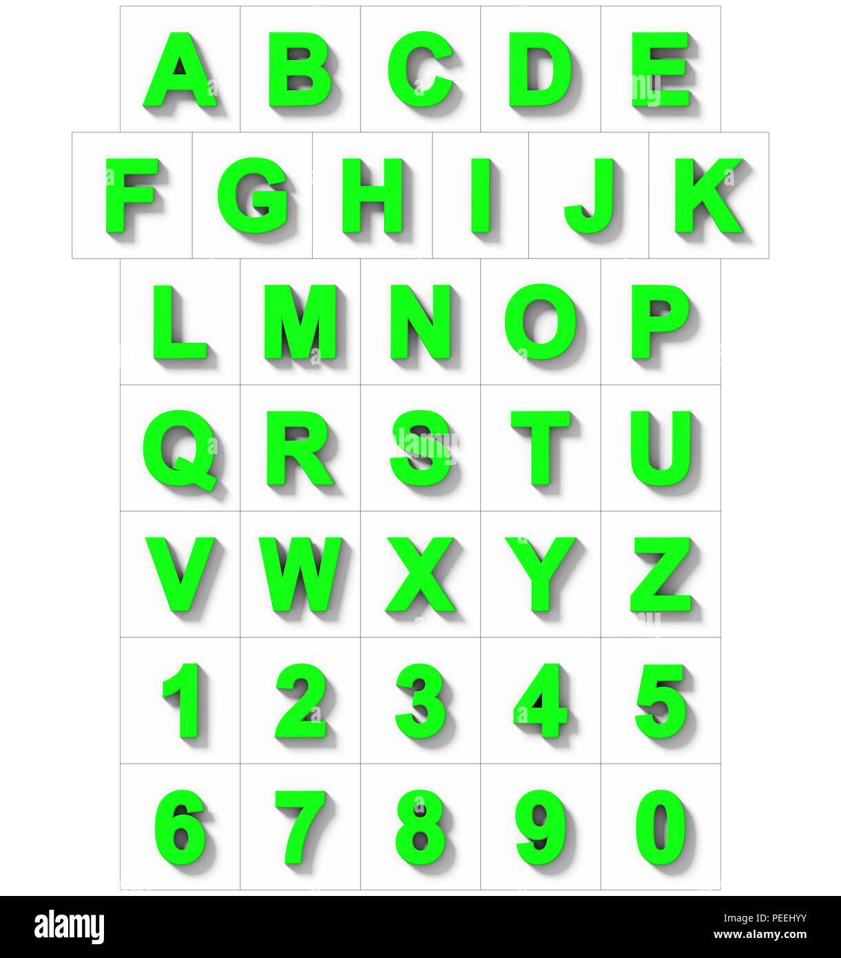 letters and numbers 3d