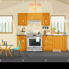 Kitchen Candles Kmart Interior View Room With Kettle On Stove Or Oven Exhaust Hood Fan Table And Chair Fridge Refrigerator