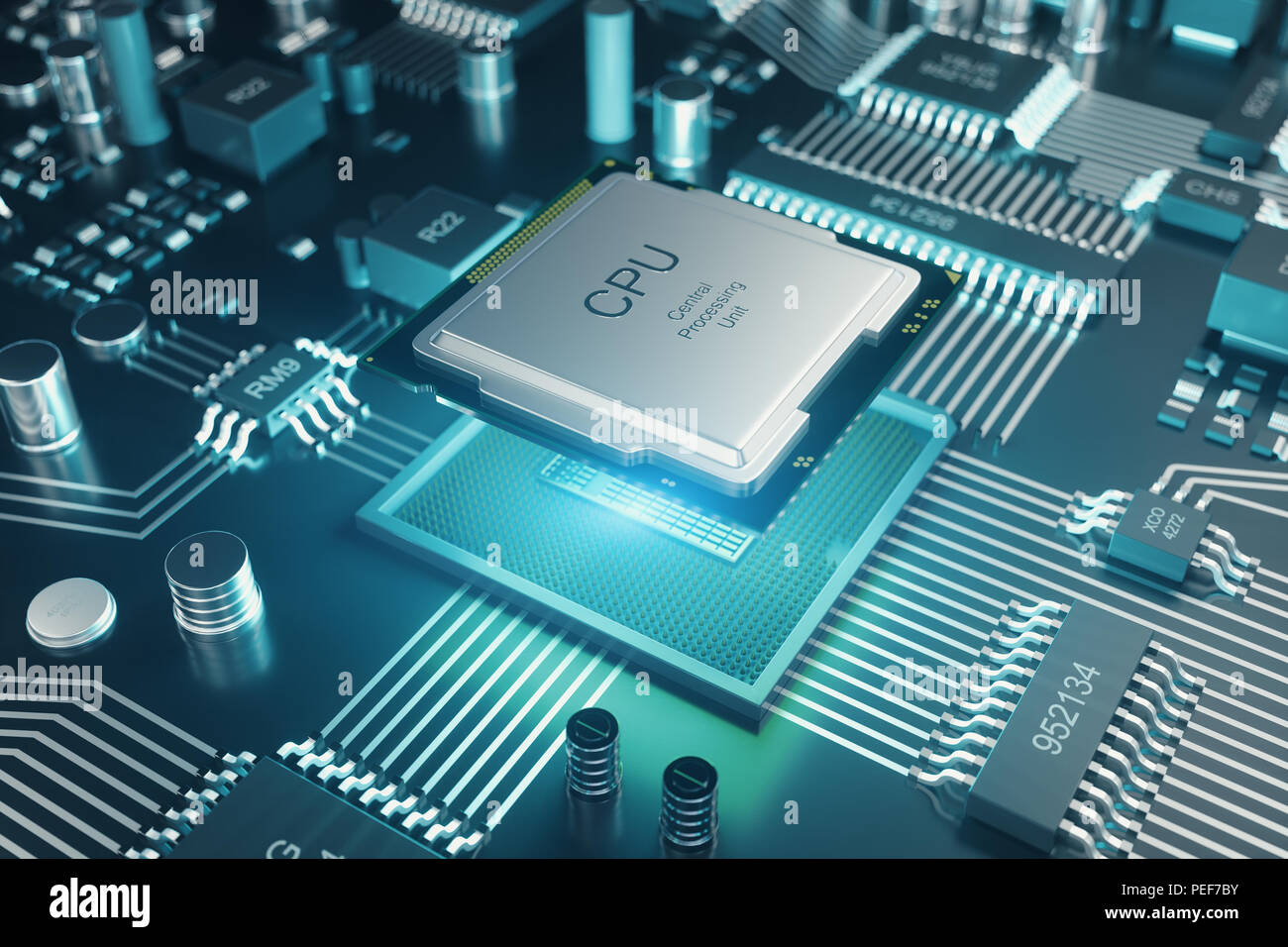 Computer Code And Circuit Board Background Illustration