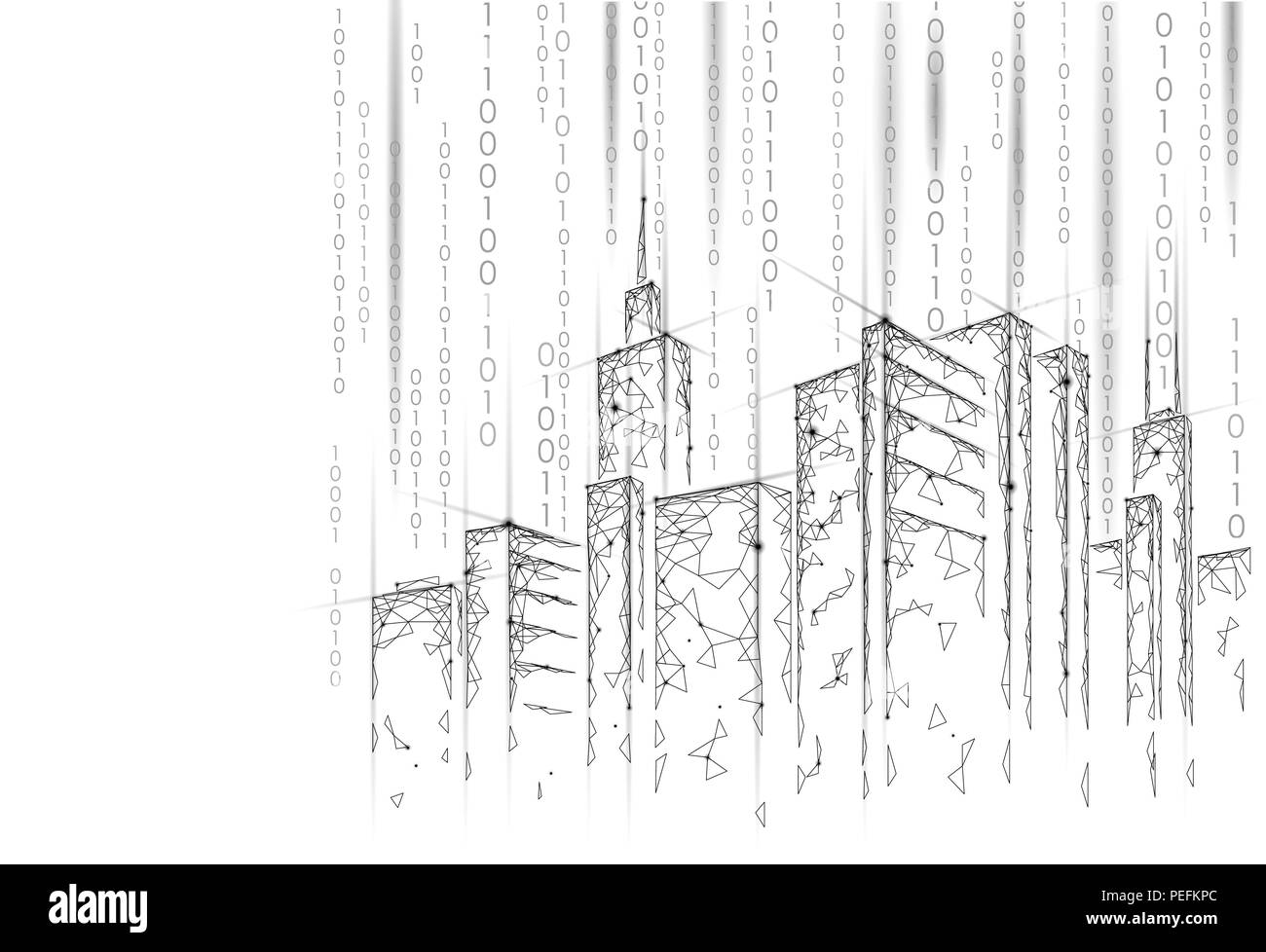 hight resolution of low poly smart city 3d wire mesh intelligent building automation rh alamy com intelligent building system building automation system wiring diagram