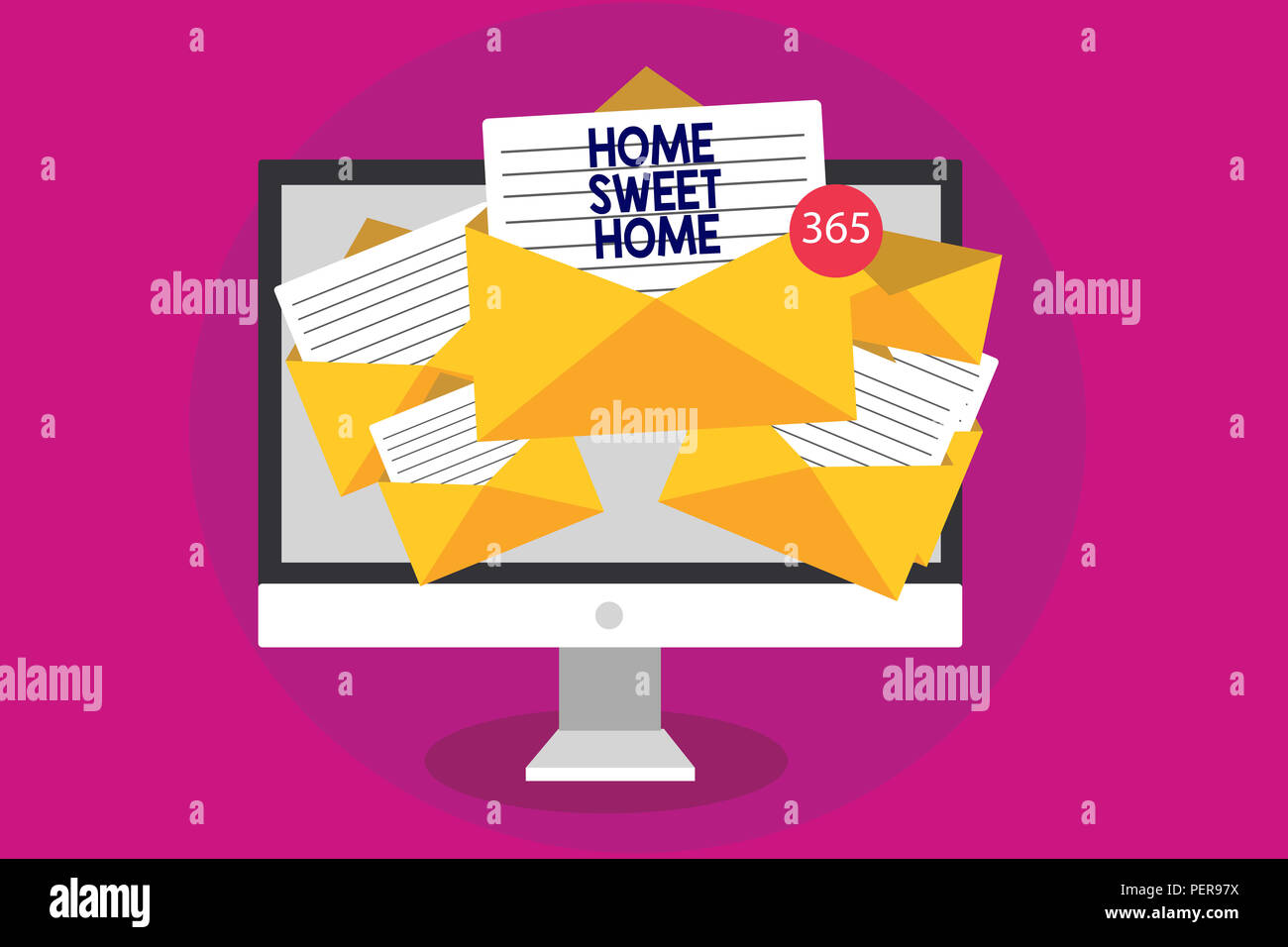 One's home, especially a nice, comfortable home. Handwriting Text Writing Home Sweet Home Concept Meaning In House Finally Comfortable Feeling Relaxed Family Time Computer Receiving Emails Important Stock Photo Alamy