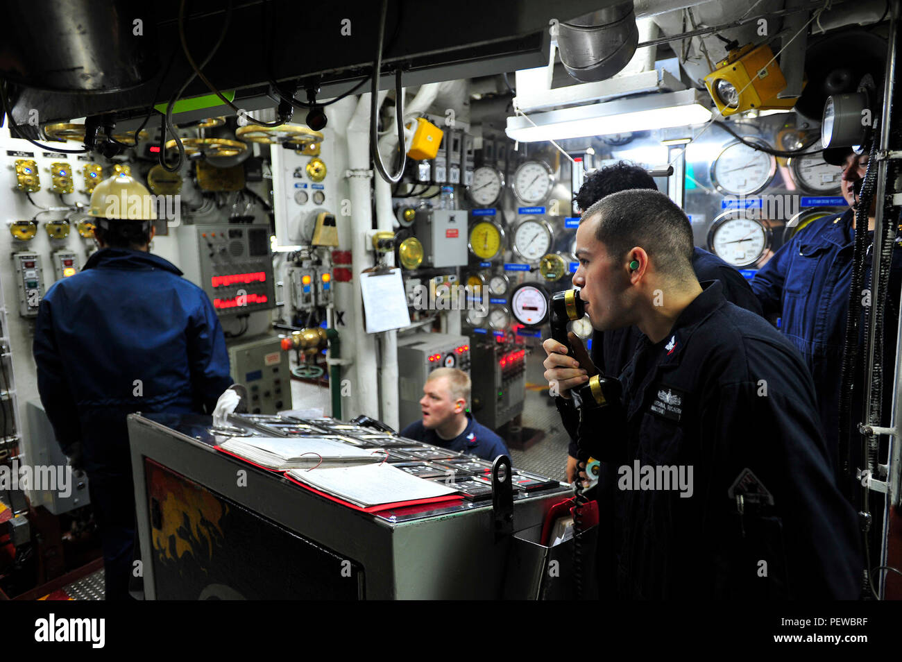 https www alamy com 160204 n yl053 057 yokosuka japan feb 4 2016 machinists mate 2nd class ricardo medina right attached to the us 7th fleet flagship uss blue ridge lcc 19 passes a message to sailors in the upper deck of the fireroom in preparation for lighting the ships boilers blue ridge is currently moored at commander fleet activities yokosuka finishing the final preparations for its 2016 patrol cycle us navy photo by mass communication specialist 3rd class don patton released image215687683 html