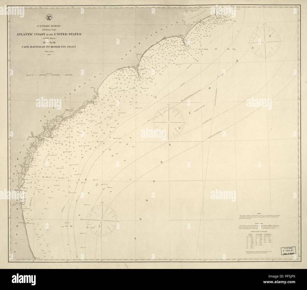 medium resolution of atlantic coast of the united states in four sheets sheet no iii