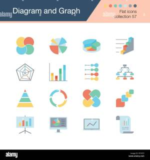 Diagram and Graph icons Flat design collection 57 For presentation, graphic design, mobile
