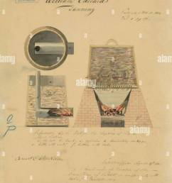 patent drawing for william edward s tanning equipment 1812 stock image [ 943 x 1390 Pixel ]
