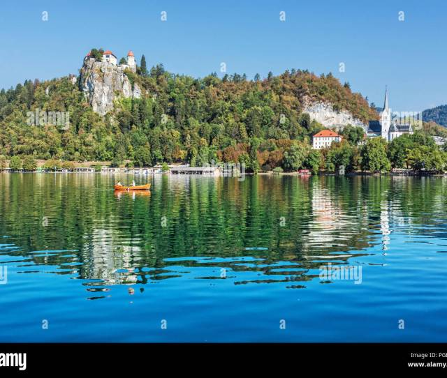 Lake Bled With Castle And St Martins Parish Church Slovenia Europe Travel Destination Summer Vacation