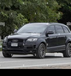 chiangmai thailand july 31 2018 private suv car from audi q6 photo at road no 121 about 8 km from downtown chiangmai thailand  [ 1300 x 956 Pixel ]
