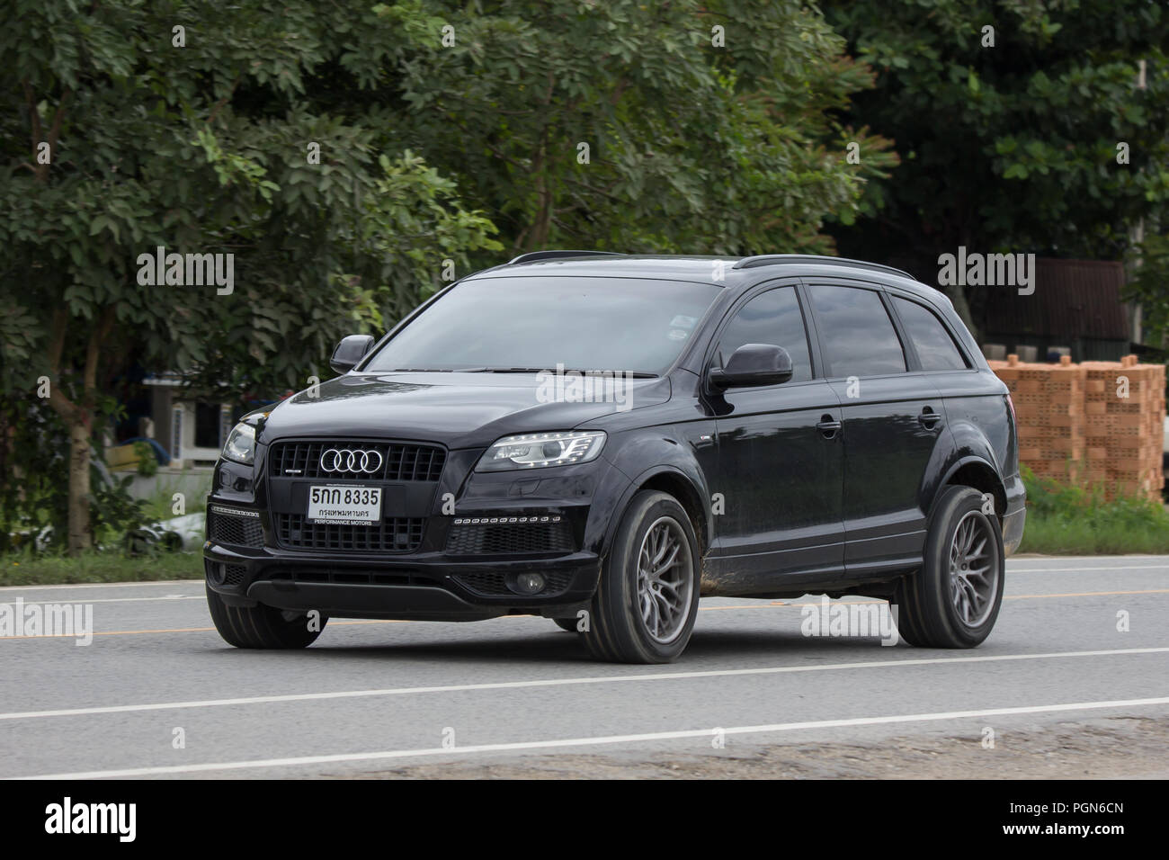 hight resolution of chiangmai thailand july 31 2018 private suv car from audi q6 photo at road no 121 about 8 km from downtown chiangmai thailand