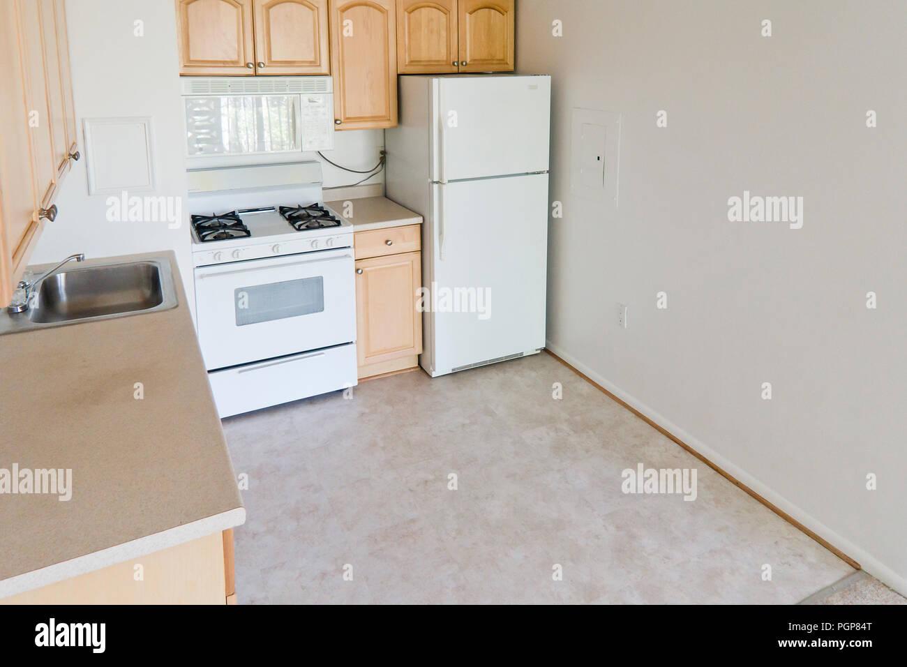 modular kitchen usa aide small in a condominium unit empty