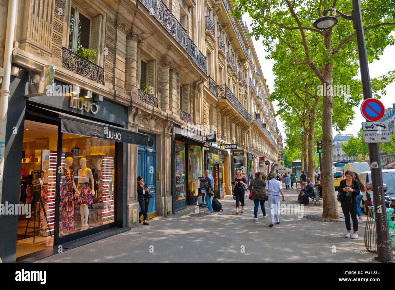 boulevard saint germain st germain des pres left bank paris france