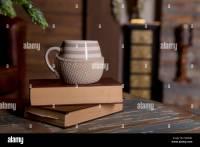 Tea Cup Book Nobody Vintage Stock Photos & Tea Cup Book ...