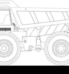 heavy duty dump truck line drawing stock vector [ 1300 x 788 Pixel ]