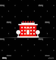 Hotel Sign Icon Stock &