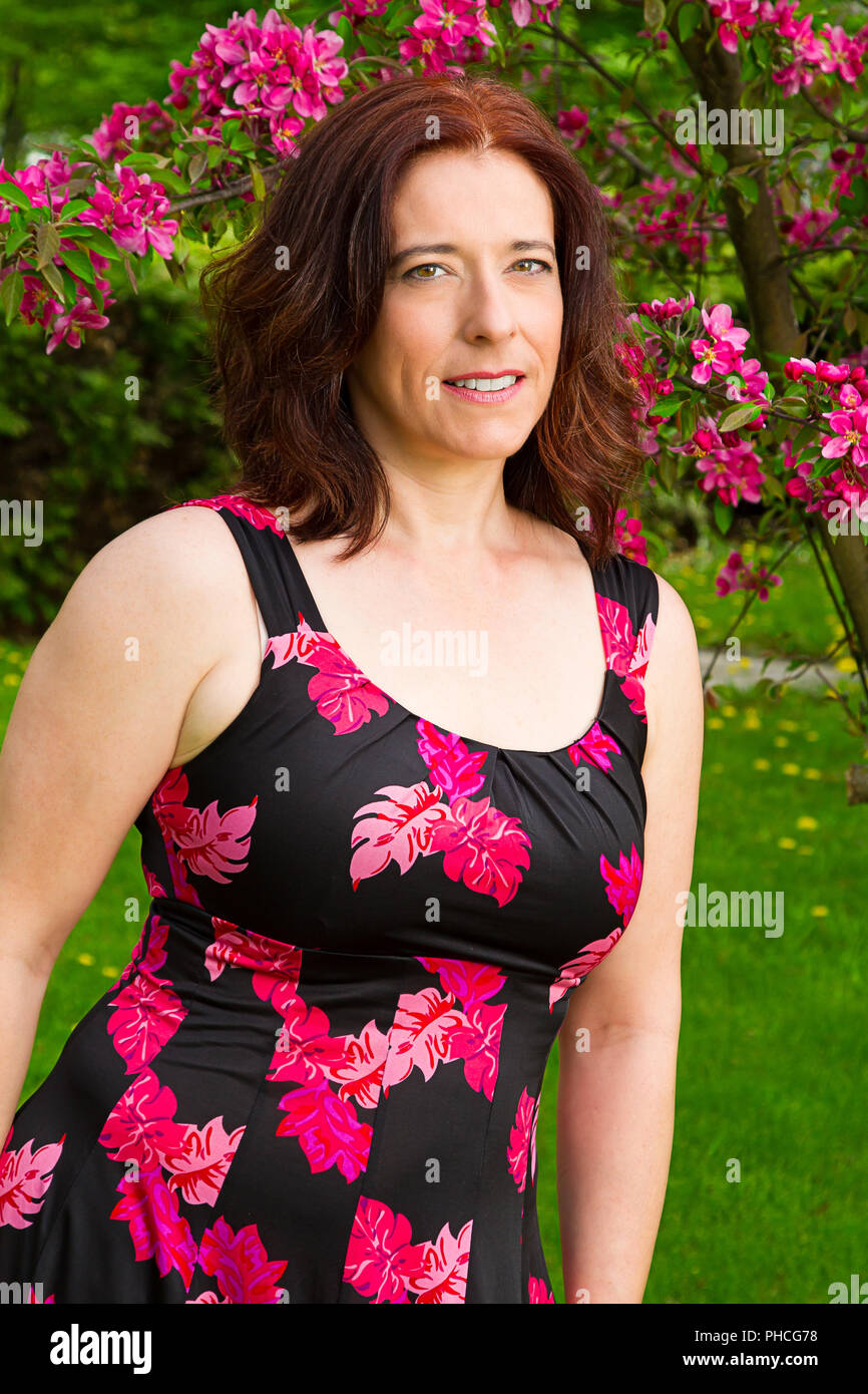 Photo De Femme Mature : photo, femme, mature, Mature, Cherry, Flowers, Resolution, Stock, Photography, Images, Alamy