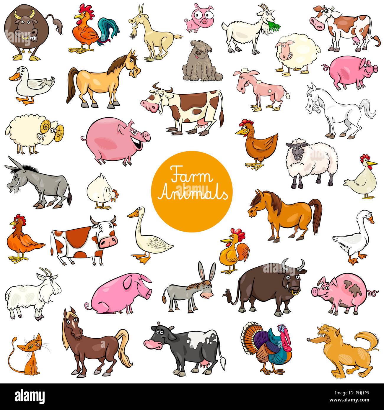 Animal Farm And Cartoon Donkey Stock Photos Amp Animal Farm