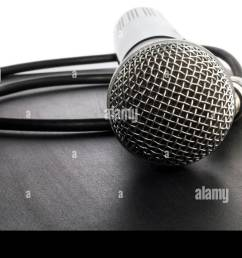 wireless microphone and cable with connector stock image [ 1300 x 838 Pixel ]