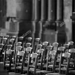 Notre Dame Chair Silver Covers Wedding In Cathedral Of Reims France Stock Photo