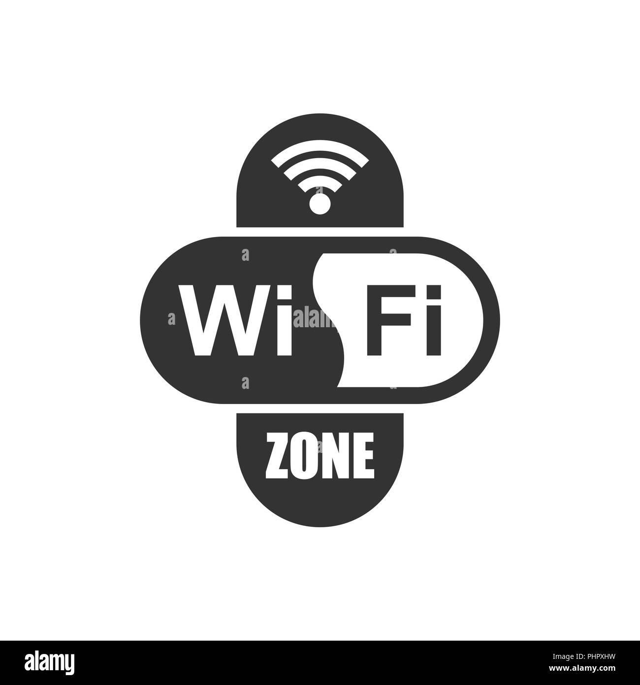 wifi zone internet sign