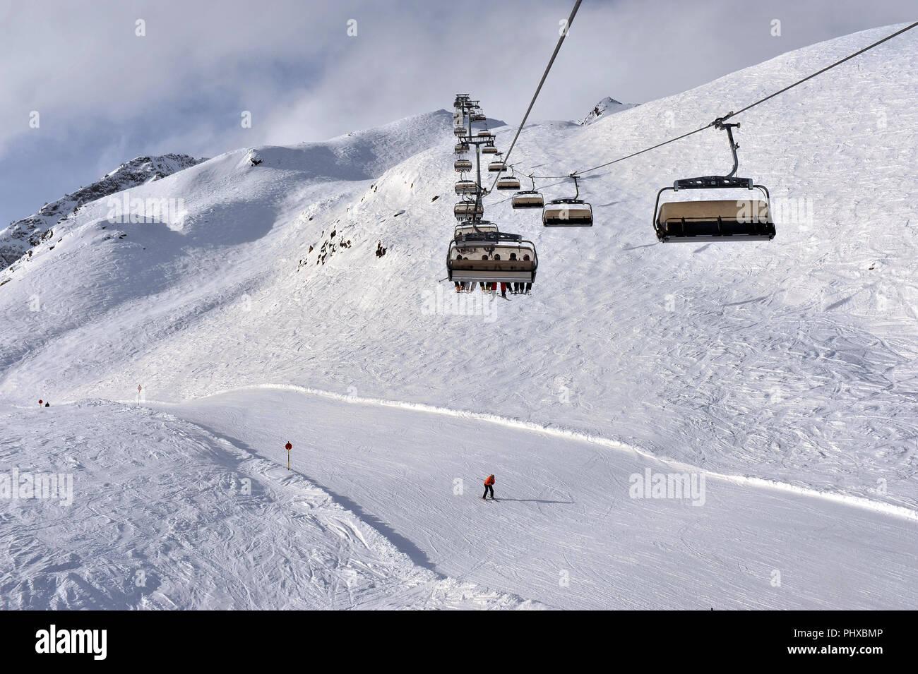 buy ski lift chair plastic adirondack chairs australia on bright winter day stock photo 217553526 alamy