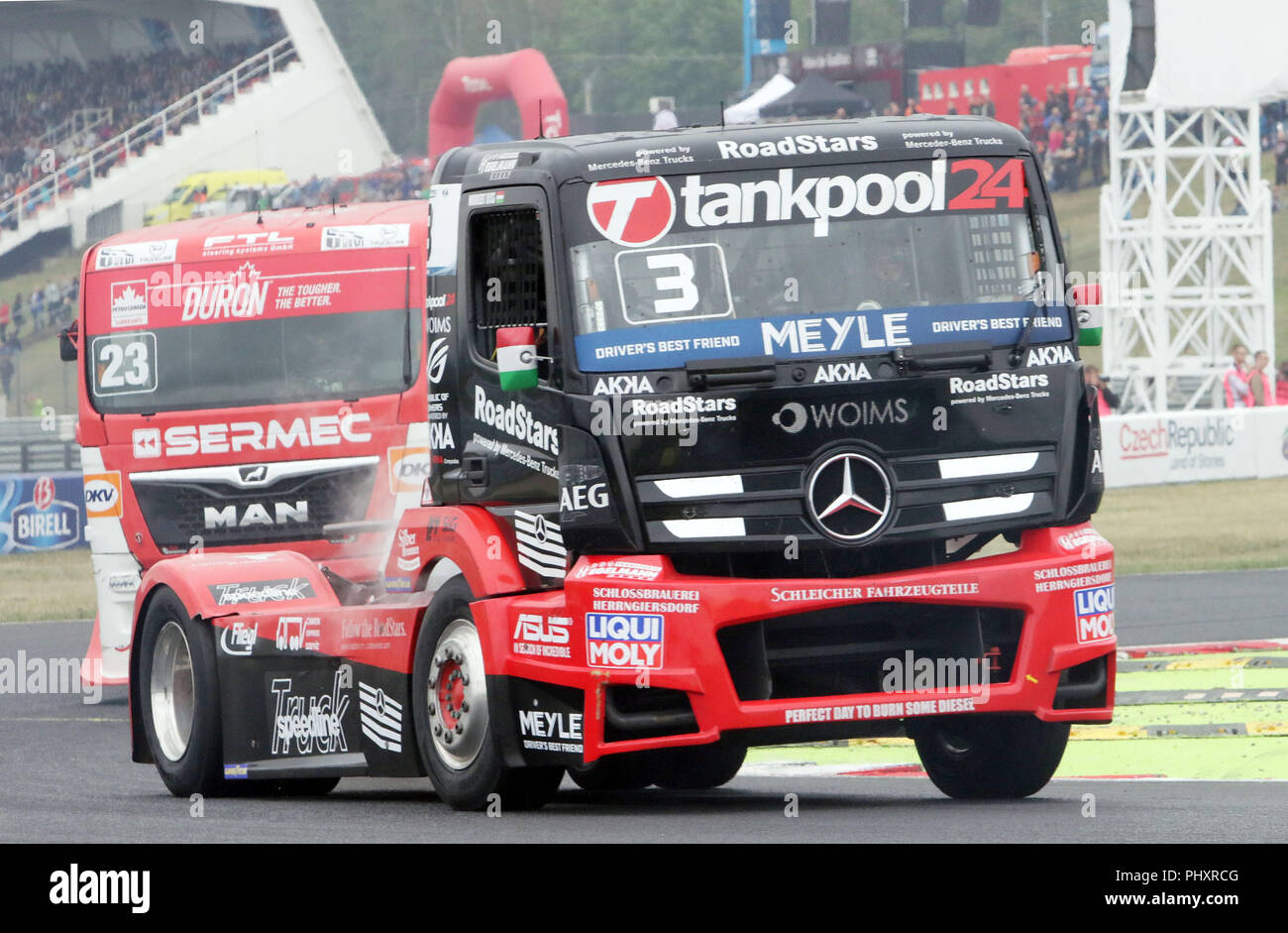 hight resolution of  2018 most czechy third race in front norbert kiss hun mercedes benz tankpool 24 racing fia european truck racing championship 2018