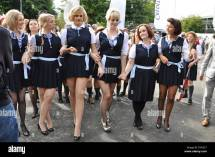 St Trinian' Girls Goodwood Revival. Costumes Based