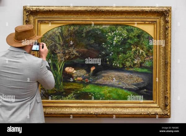 Ophelia John Everett Millais Stock &