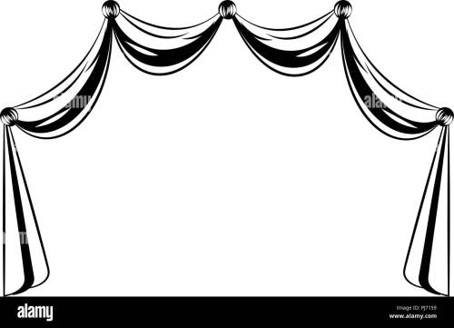 small resolution of germany curtains isolated in black and white stock image