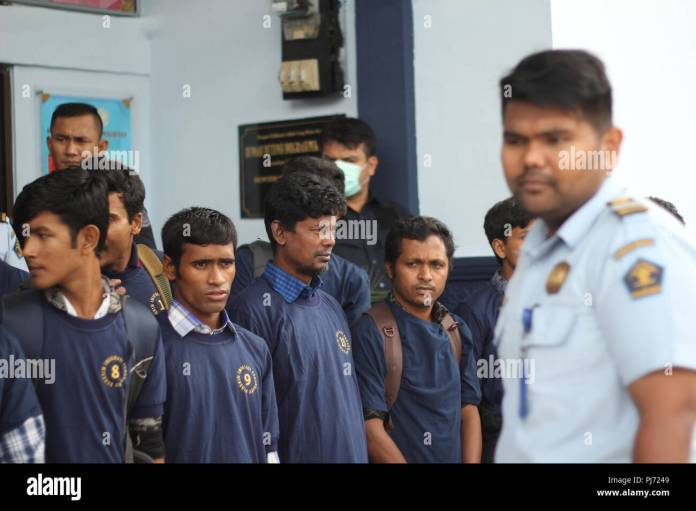 Pekanbaru Indonesia 04th Sep 2018 A Total Of 20 Out Of 41 Immigrants From Bangladesh Deported