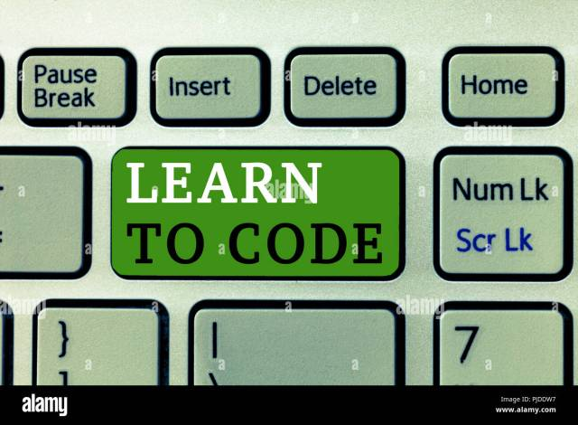 Word writing text Learn To Code. Business concept for Learn to
