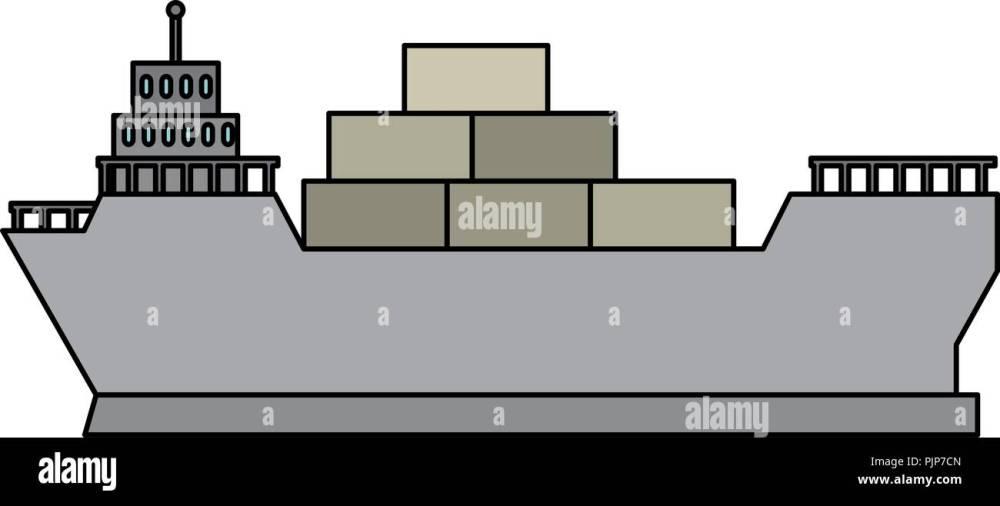medium resolution of cargo ship isolated icon