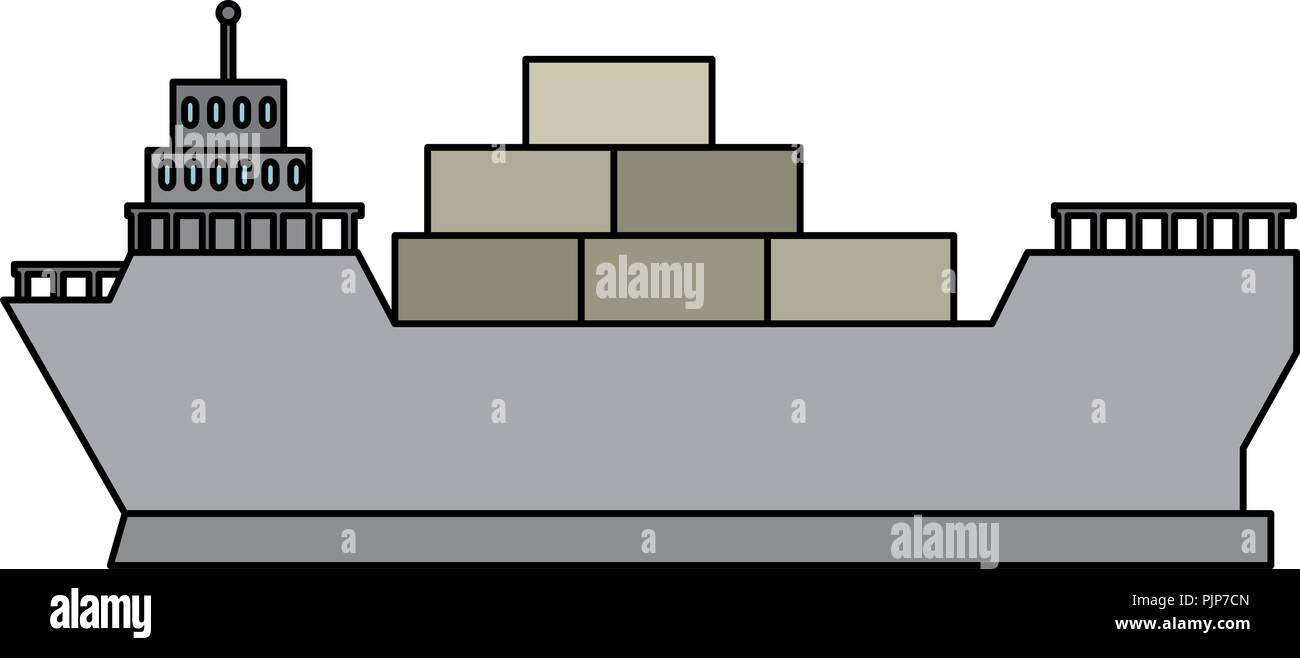 hight resolution of cargo ship isolated icon