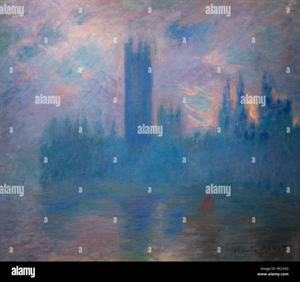 Houses Of Parliament London Claude Monet 1900-1901 Art