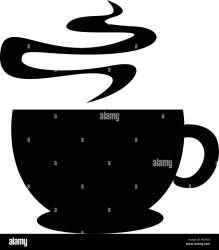 silhouette coffee cup background alamy isolated restaurant